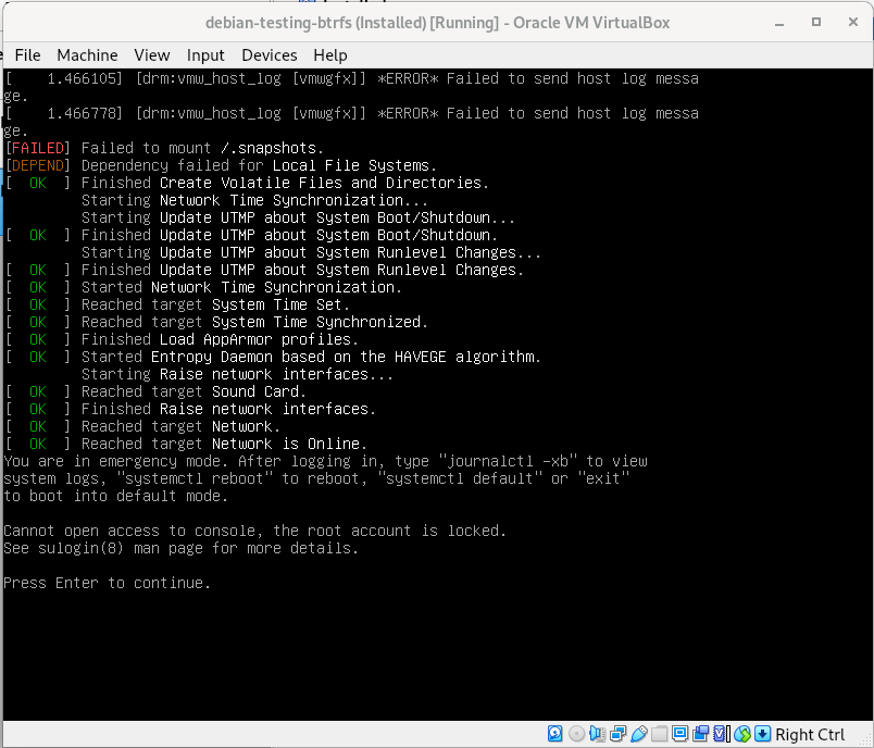 bullseye_installer_btrfs_freedombox_boot_failure